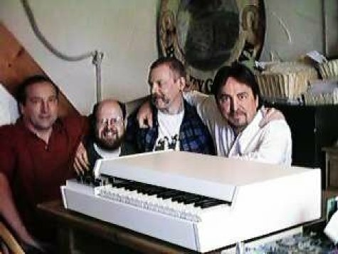 The prototype of the digital replay version of the M4000 - idea was scrapped. L - R John Bradley, Norm Leete, Nick Magnus and Martin Smith